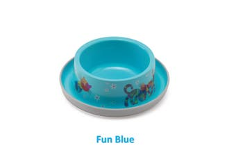 Moderna Friends Forever Ant Proof Cat Bowl - 350ml / Fun Blue