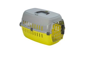Moderna Roadrunner Cat Carrier Travel Crate, Metal Door - Size 1 (51cm) / Fun Green/Grey