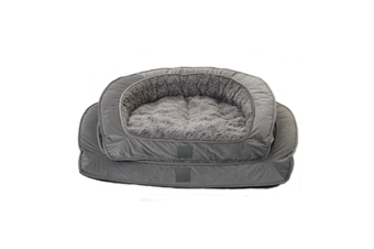 T&S Designer Portsea Lounge Dog Bed, Grey - Large