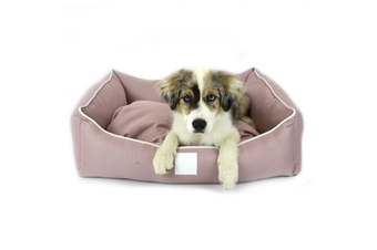 T&S Isleep Pink Linen, Designer Dog Bed - Large