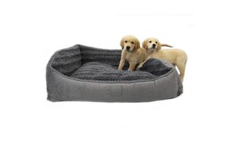 T&S Isleep Grey Plush, Designer Dog Bed