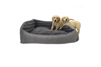 T&S Isleep Grey Plush, Designer Dog Bed - Large