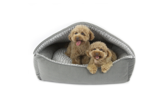 T&S Canopy Dog Bed Plush Grey