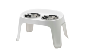 Moderna Skybar Raised Dog Bowl Stand, White, 3 Sizes