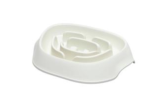 Moderna Slomo Slow Feeder Dog Bowl 950ml, White - White