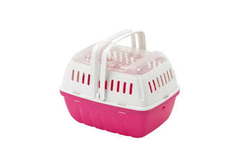 Moderna Hipster Small Pet Carrier, Top Opening Travel Crate, Hot Pink