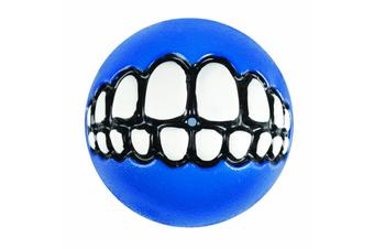 Rogz Grinz Dog Ball Toy, Blue