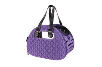 Ibiyaya Foldable Pet Carrier Bag, Diamond Deluxe Purple