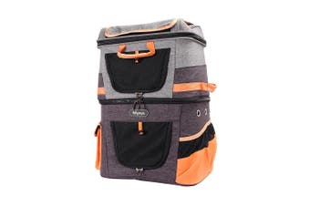 Ibiyaya Two-Tier Pet Backpack, Hands-Free Carrier Bag 12kg