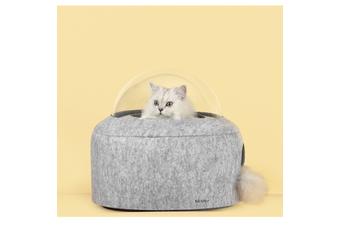 Michu Space Capsule Designer Cat Bed, Grey