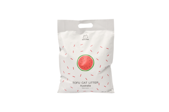 Michu Tofu Natural Clumping Cat Litter, Watermelon