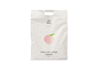 Michu Tofu Natural Clumping Cat Litter, Peach