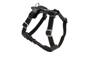 Hunter Aalborg Soft Genuine Leather Dog Harness, Black