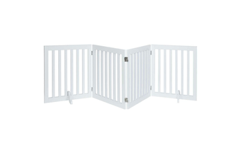 Four Panel Freestanding Dog Gate, White