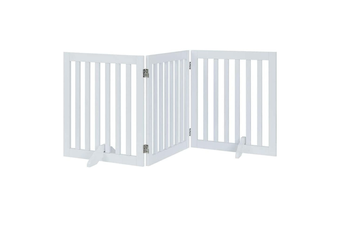 Three Panel Freestanding Dog Gate, White