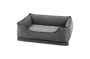 Luxury Bolster Dog Bed, Storm Grey - Large (90cm)