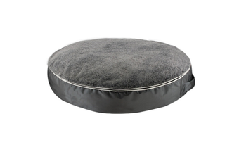 Large Round Pet Mattress, Removable Plush Cover