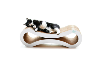 Cat Scratcher Infinity Lounge, White