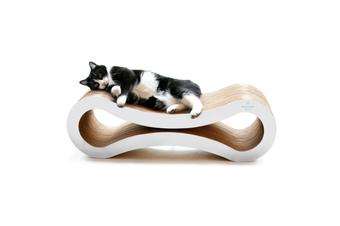 Cat Scratcher Infinity Lounge, White