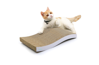 Double-Sided Curved Cat Scratcher Pad