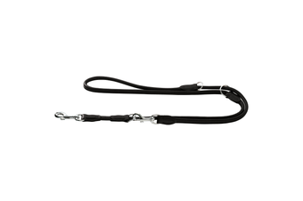 Hunter Rolled Soft Elk Leather Dog Training Lead, 3-Way Adjustable - Chili