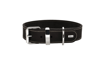 Hunter Aalborg Special Leather Dog Collar, Black