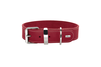 Hunter Aalborg Special Leather Dog Collar, Red
