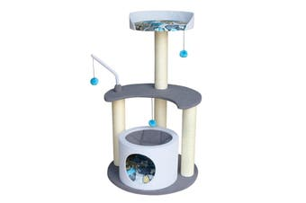 3-Platform Pop-of-Color Ultramodern Cat Tree
