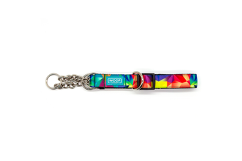 Woof Concept Martingale Dog Collar, Polygon