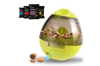 Dog Treat Dispenser Toy w/ Bonus Puppy Snacks, Green