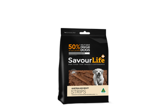 Savourlife Puppy Treats, Australian Milky Strips 150g
