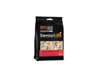 Savourlife Natural Dog Biscuits, Australian Beef Flavour 500g