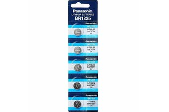 5 x BR1225 3V Lithium Button Coin Battery Brand New Genuine Expires: 12/2030