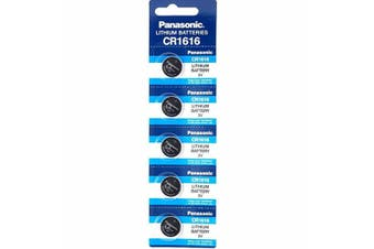5 x CR1616 3V Lithium Button Coin Battery Brand New Genuine Expires: 12/2028