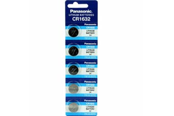 5 x CR1632 3V Lithium Button Coin Battery Brand New Genuine Expires: 12/2029