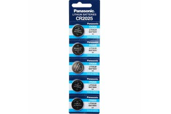 5 x CR2025 3V Lithium Button Coin Battery Brand New Genuine Expires: 12/2029