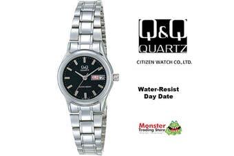 Citizen Made QQ Japanese Quartz Ladies Day & Date Dress Watch Water Resistant BB13-202