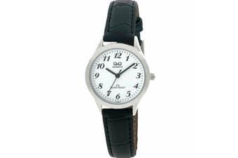 C153J304 Citizen Made Q&Q Japanese Quartz Leather Band Ladies Watch Water Resistant