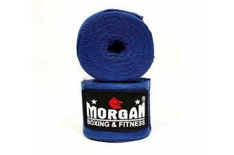 Cotton Boxing Hand Wraps 180inch - 4m Long (Pair) [Blue]