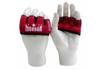 Morgan Gel Knuckle Guard - Red (Junior size: Ladies & small hands)
