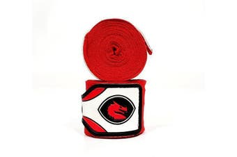 Morgan MEXICO ELASTIC  BOXING HAND WRAPS - 180inch- 4m long - Red