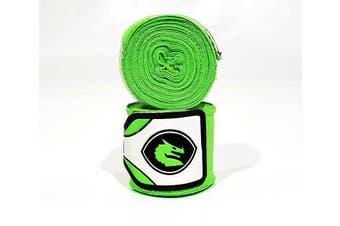 Morgan MEXICO ELASTIC  BOXING HAND WRAPS - 180inch- 4m long - Lime