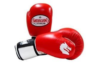 Morgan V2 Platinum Leather Sparring Gloves (10oz-16oz)