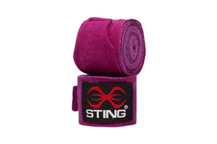 Sting Elasticised Hand Wraps - 4.5M - PURPLE