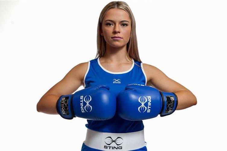 Sting Womens Boxing Mettle Singlet - BLUE / XS