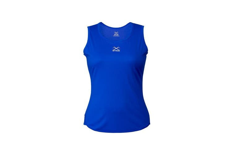Sting Womens Boxing Mettle Singlet - BLUE / S