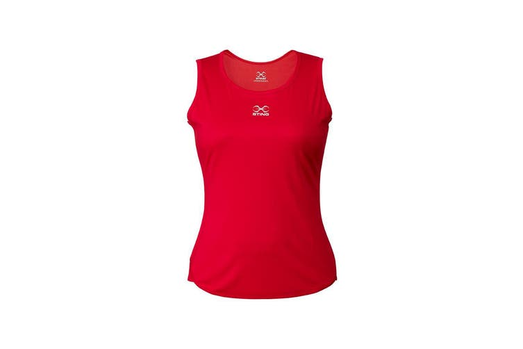 Sting Womens Boxing Mettle Singlet - RED / XL