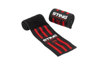 Sting Elasticised Lifting Wrist Wraps 18Inch - RED / 18 INCH