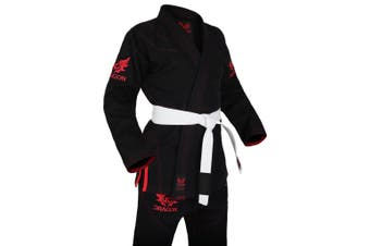 Dragon V2 450 gsm BJJ Gi - IBJJF Approved (Black)