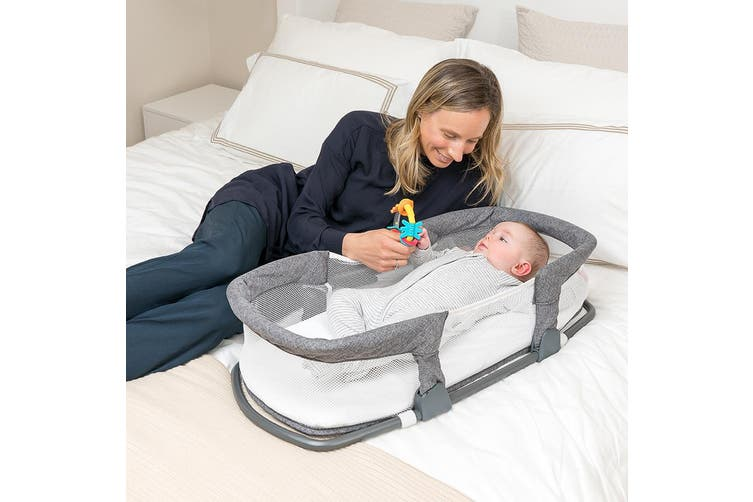 Childcare Cosy Sleeper Baby Co Sleeping Bed Bassinet Storm Cloud